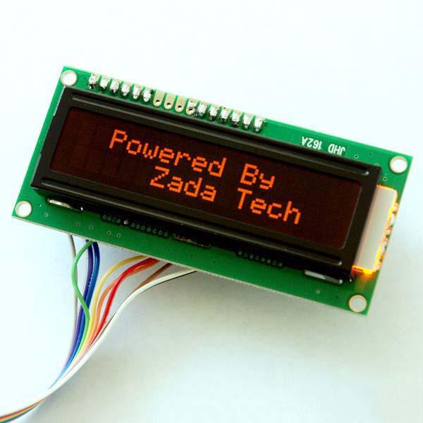 Zada Tech LCD 16x2 / orange Schrift