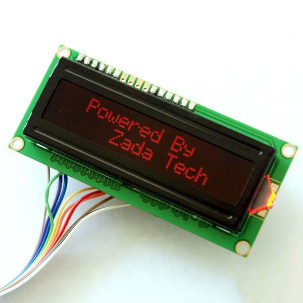 Zada Tech LCD 16x2 / rote Schrift