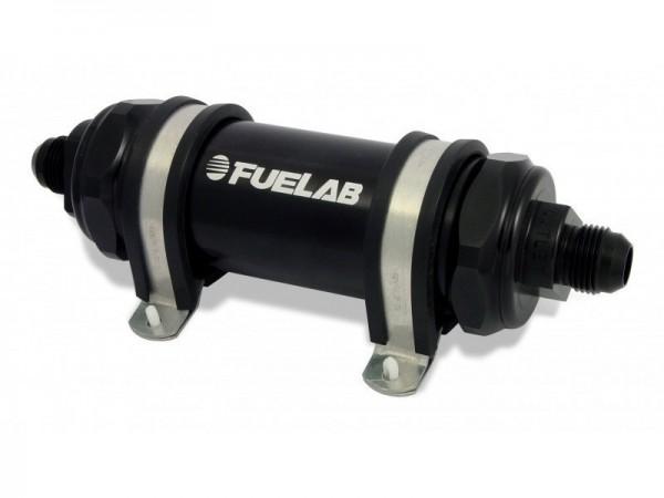 FueLab Benzinfilter / Kraftstofffilter mit Rückschlagventil 40micron -6AN